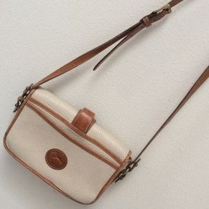 Dooney & Bourke Bags - Vintage Dooney & Burke Cream Leather Crossbody Bag